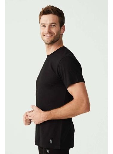U.S. Polo Assn. Erkek Yuvarlak Yaka T-Shirt Siyah